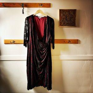 Plus Size 3x Black Lace Dress